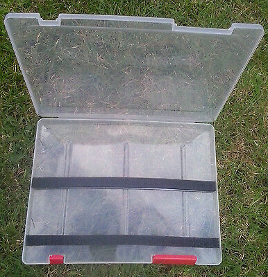 Clear Fishing Tackle Float Box With Foam Strips - Coarse Freshwater Angling