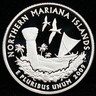 2009-S Territories Quarter Northern Mariana Islands Gem Proof DCAM 90% Silver