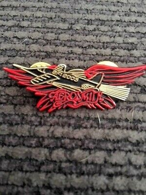 3 Aerosmith pins - 2x2001 & 1x2005 Aero Force One Fan Club Pins NEW
