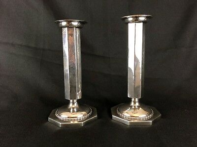 Pair Thedore B. Star New York Sterling Silver Candlesticks 1900- 1924 American