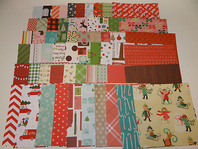 Christmas Scrapbook Paper.Christmas Scrapbook Paper Card Making Huge Lot 60 Pieces