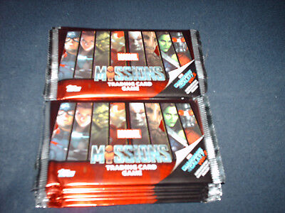 """Topps """"Marvel Missions Trading Card Game"""" 13 Booster Neu/OVP"""