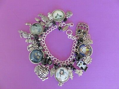 Mysterious Powerful Intuitive Wise + Loyal: Hand Made SP OWLS Bracelet FREE SHIP