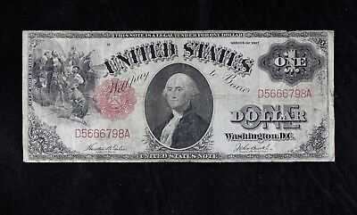 $1 1917 United States Note D5666798A Fr#36, KL#23 Sawhorse one dollar FREE SHIP.
