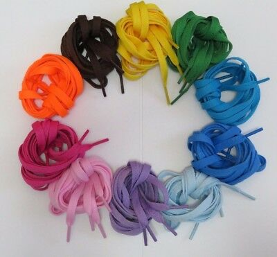 "Flat Athletic Shoelaces 42"" Multiple Colors"
