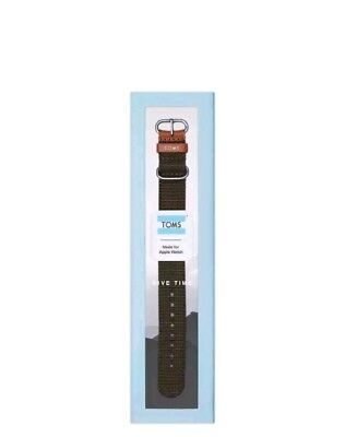 TOMS Apple Watch Band, Black, 42mm - NEW In Box