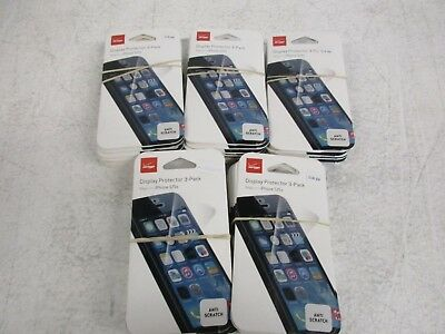 Verizon iPhone 5/5s Display Protector Anti Scratch 3 pack Lot of 50 (150 pieces)
