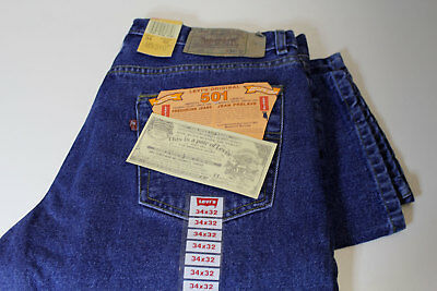 BNWT LEVI'S 501 DENIM JEANS W36 L32 - made in USA