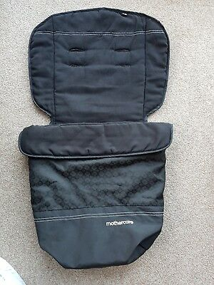Mothercare footmuff / cosytoes fleece lined Colour BLACK