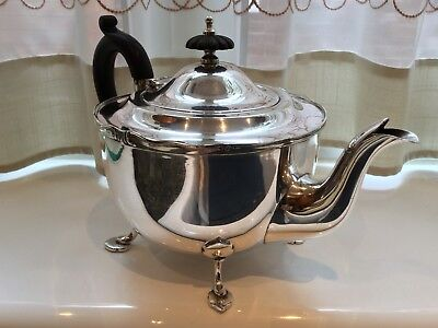 Lovely Antique Marples And Co Silver Plated Footed Tea Pot