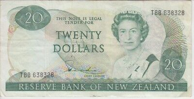 NEW ZEALAND BANKNOTE P173a-8328  20 DOLLARS SIG HARDIE,VF