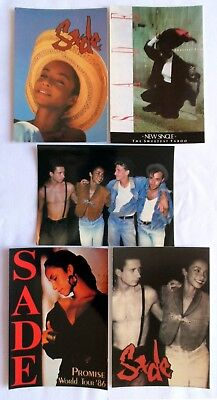 SADE POSTCARDS 5 x Vintage Sade Postcards * The Sweetest Taboo *