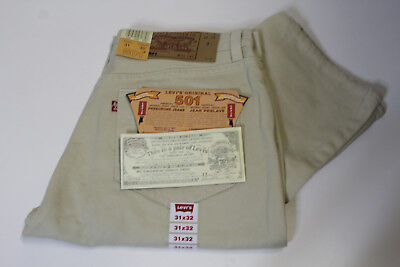 LEVI'S 501 DENIM JEANS BEIGE - W31 L32 - made in USA