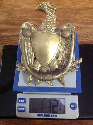 Rare Vintage Estate Eagle Shield Federal Door Knocker Heavy Brass or Bronze