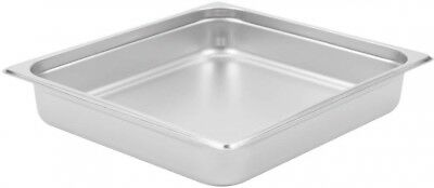 """Buffet Pans 2/3 Size 2.5"""" Deep Stainless Steel Steam Table Hotel Pan (Pack of 6)"""