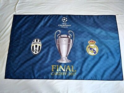 Champions League Final Cardiff 2017 - Juventus v Real Madrid - Flag - BNWT