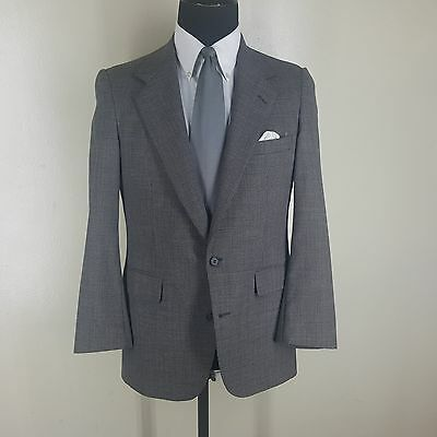 Southwick Made In U.s.a.  Vintage Gray  100% Wool Suit  2Btn. Center Vent 38 Sh