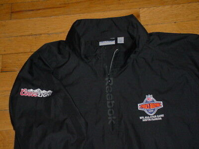 more photos e013b e77ff 2010 NFL PRO Bowl All Star Game Pullover Jacket By Reebok Coors Light Black  L