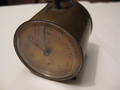 Old Brass Small Mantle Clock