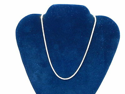 "Gold Plated Classic Italian Thin Box Chain Necklace for Pendants - 15"" NEW"
