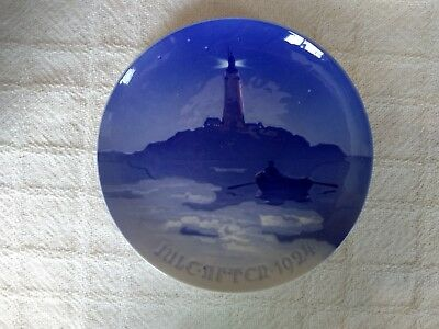 Bing & Grondahl 1924 Christmas Plate-Lighthouse in Danish Waters