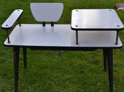 Rare 1950-60s Formica Wooden Telephone table Vintage Retro