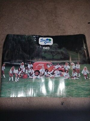 1983 Sea Gals Poster with Coca-Cola Truck 5 Cent