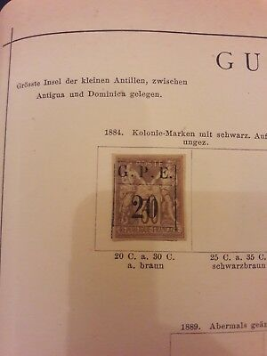 Guadeloupe 1884 Yv. 1 Gestempelt