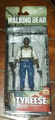 The Walking Dead: TYREESE Series 5 Action Figure w/Shotgun, Hammer & Silencer
