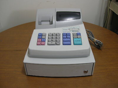 Sharp Model XE-A101 High Contrast LED Cash Register Point Of Sale POS Terminal