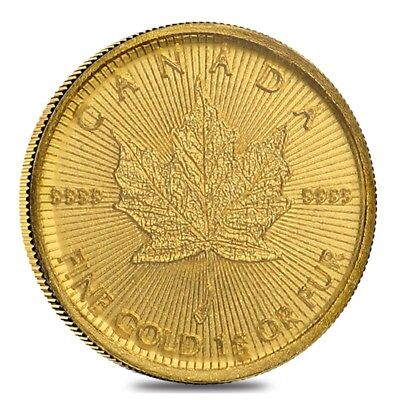2018 1 gram Canadian Gold Maples $.5 Coin .9999 Fine - Maplegram25™