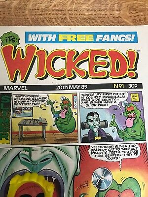 Wicked Comic No 1 With Free Gift.Very Rare.1989. Mint