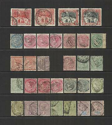 Jamaica ~ 1860-1902 Queen Victoria Definitives (Part Sets) Postally Used