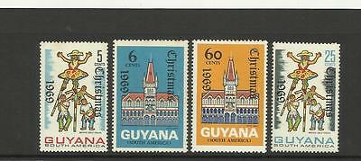 Guyana ~ 1969 Christmas  (Mint Set Mh)