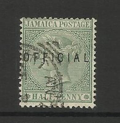 JAMAICA ~ 1890-91 QUEEN VICTORIA OFFICIAL STAMP (17mm)