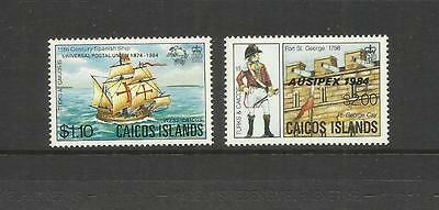 Caicos Islands  ~ 1984 U.p.u. & Ausipex Overprints (Turks & Caicos)