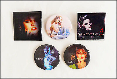 Madonna Lot Of 5 80's Buttons Pins Pin Badges / Boy Toy