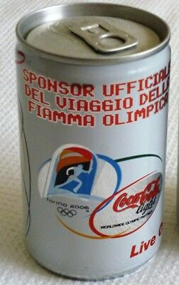 Coca Cola Light Coke lattina Torino 2006 Olimpiadi fiamma olimpica 150 cl