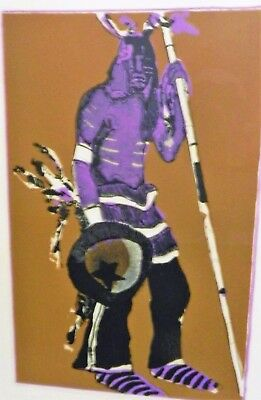 Orig Fritz Scholder Pencil Signed Lithograph, Kachina With Hunting Stick #40/100