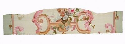 A Gorgeous Antique Aubusson Tapestry Fragment with Satyr Heads