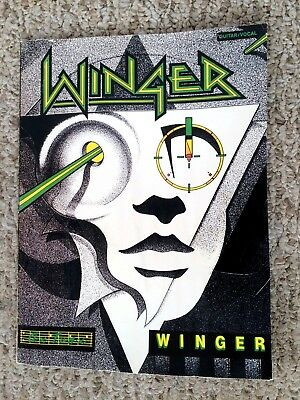 1989 2nd Ed WINGER DEBUT ALBUM GUITAR TABLATURE TAB GUITAR BOOK Water Damage