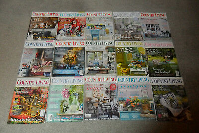15 Issues Of COUNTRY LIVING Magazine From 2012-15