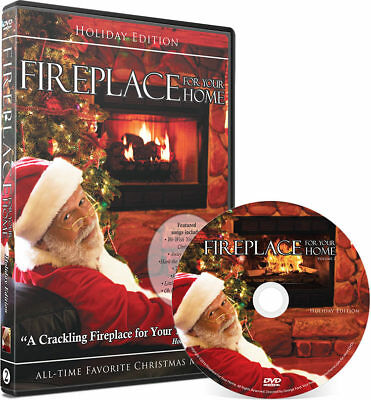 Fireplace With Christmas Music.Crackling Fireplace Dvd Holiday Yule Log Edition With