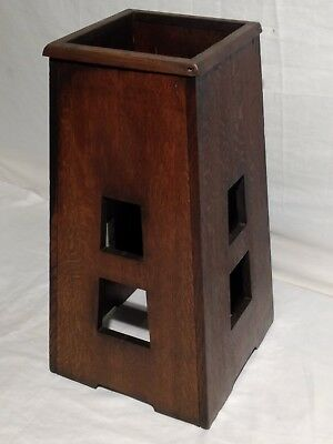 Antique Mission Oak Arts & Crafts Limbert style umbrella stand.