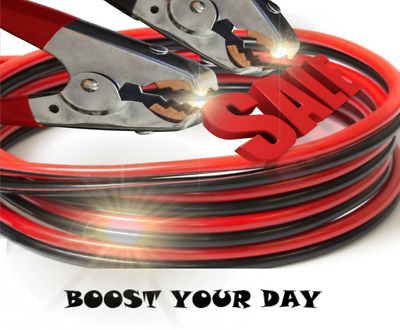 Battery Jumper Cables 4 Gauge 500 Amp Extra Long 25 Feet Heavy Duty PROFESSIONAL