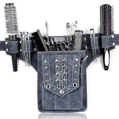 HAIRDRESSING SCISSORS TOOL BELT WAIST POUCH DENIM LOOK- STUD by Kassaki