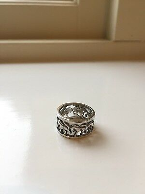Egyptian silver Horse ring