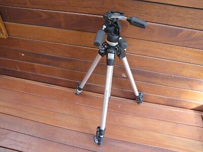 Manfrotto Tripod 190D + 804RC2  3Way+ 496RC Ball Head.  Contact for postage cost