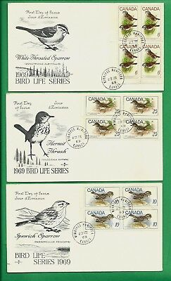 1969 Bird Life Series Canada First Day Covers