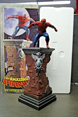 """2001 THE AMAZING SPIDER-MAN 14"""" RANDY BOWEN Painted Statue #2750/5000"""